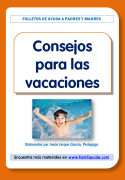 Folleto para las familias, orientaciones para las vacaciones de los niños
