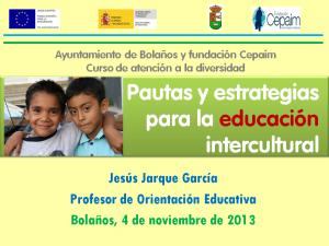 Pautas y estrategias para la educación multicultural