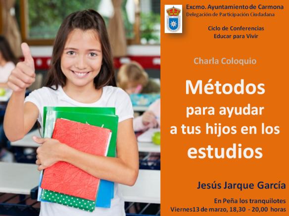 Charla coloquio de Jesús Jarque sobre métodos para ayudar a tus hijos en los estudios