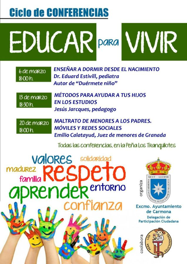 Ciclo de Conferencias Educar para Vivir