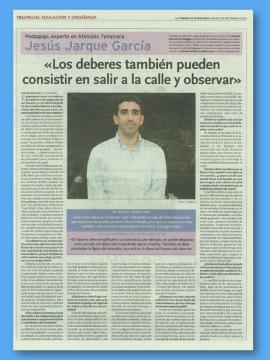 Entrevista principio de curso a Jesús Jarque en la Tribuna de Ciudad Real