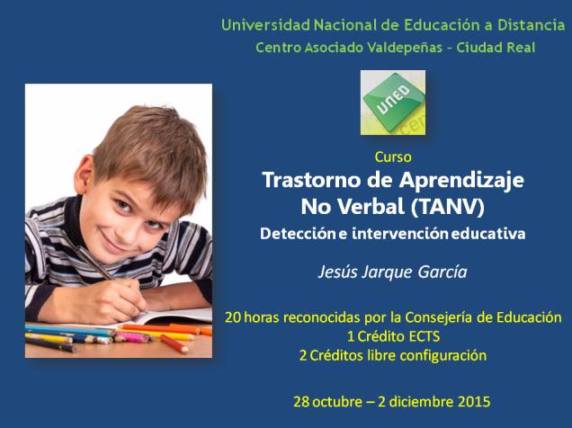 Curso en la UNED sobre el TANV