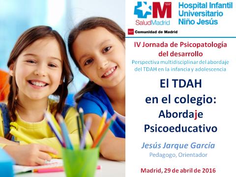 Conferencia de Jesús Jarque en el Hospital Universitario Niño Jesús de Madrid