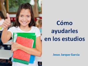 Charla cómo ayudar a los hijos en los estudios de Jesús Jarque