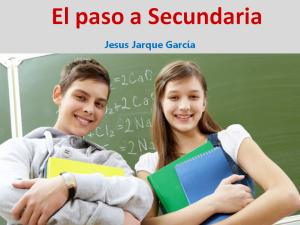 Charla sobre el paso de Primaria a Secundaria, de Jesús Jarque
