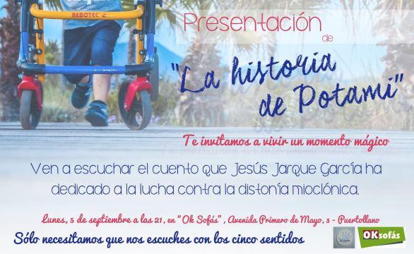 Un cuento para luchar contra la distonía mioclónica de Jesús Jarque, La Historia de Potami