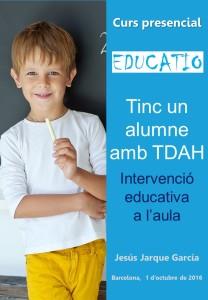 Tengo un alumno con TDAH, curso de Jesús Jarque en Barcelona