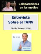 Entrevista COPE sobre el TANV