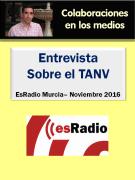 Entrevista a Jesús Jarque en EsRadio Murcia sobre el TANV