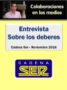 Entrevista a Jesús Jarque en Cadena Ser Puertollano sobre los deberes