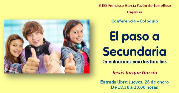 El paso de Primaria a Secundaria, charla de Jesús Jarque