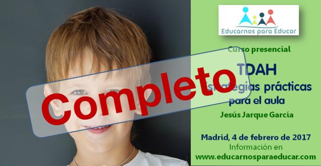 Curso TDAH de Jesús Jarque en Madrid, completo
