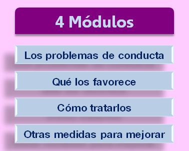 módulos del curso problemas de conducta en casa