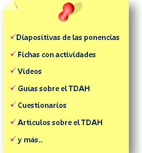 Material complementario entregado curso TDAH presencial