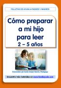 Folleto para las familias, como preparar a mi hijo para leer