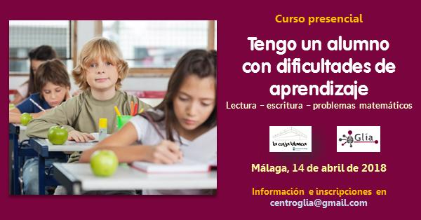 Tengo un alumno con dificultades de aprendizaje, curso de Jesús Jarque en Málaga