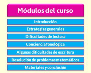 Módulos curso Dificultades de Aprendizaje en Tenerife