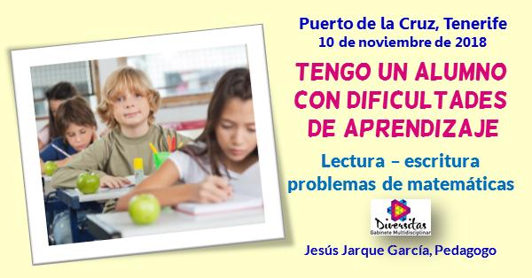 Curso dificultades de aprendizaje en Tenerife