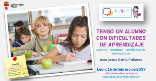Curso Dificultades de aprendizaje de Jesús Jarque AMALCYL
