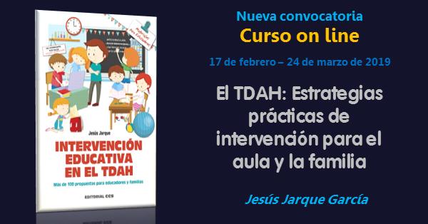 Curso on line sobre intervención educativa en el TDAH, de Jesús Jarque