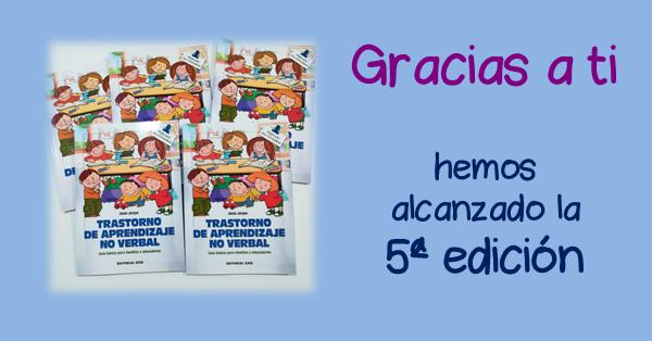 """5ª edición del libro """"Trastorno de Aprendizaje No Verbal, Guía básica para educadores y familias"""" de la Editorial CCS de Jesús Jarque"""