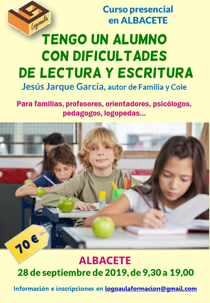 Curso en Albacete sobre dificultades de lectura y escritura