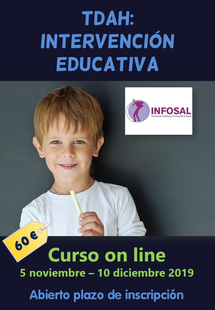Curso on line sobre la intervención educativa en el TDAH