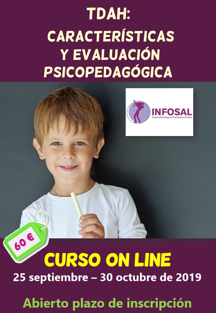 Curso on line sobre TDAH: características y evaluación psicopedagógica