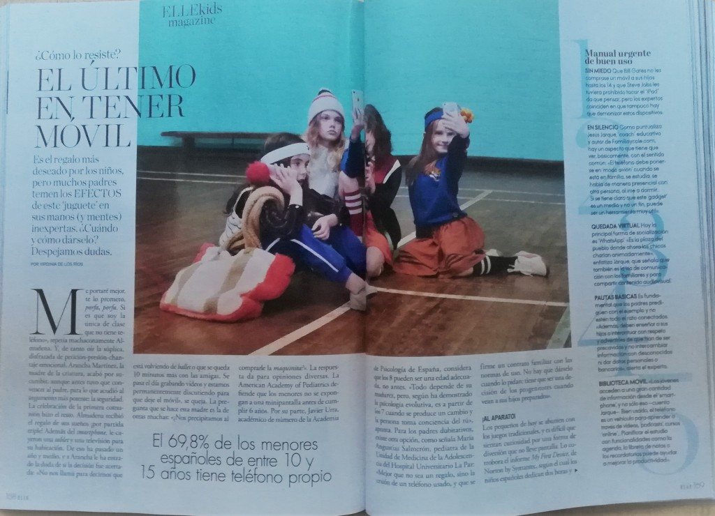 Artículo de Jesús Jarque en la revista ELLE, número de octubre 2019