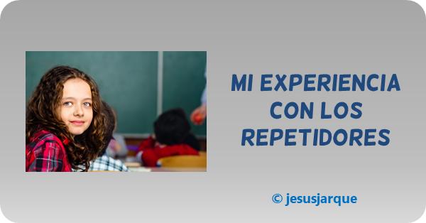 La experiencia de Jesús Jarque de intervención con los alumnos que repiten curso
