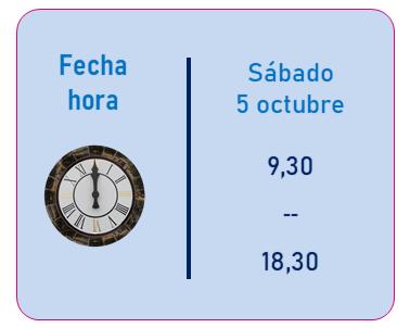 Horario: Curso de Jesús Jarque, TDAH: medidas de intervención educativa, que se impartirá en Pamplona el 5 de octubre de 2019
