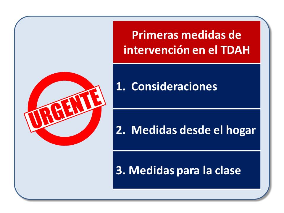 Curso de Jesús Jarque, TDAH: medidas de intervención educativa, que se impartirá en Pamplona el 5 de octubre de 2019. Las primeras medidas de intervención