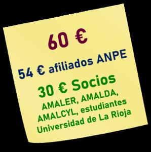Precios del curso sobre el TANV organizado por AMALER