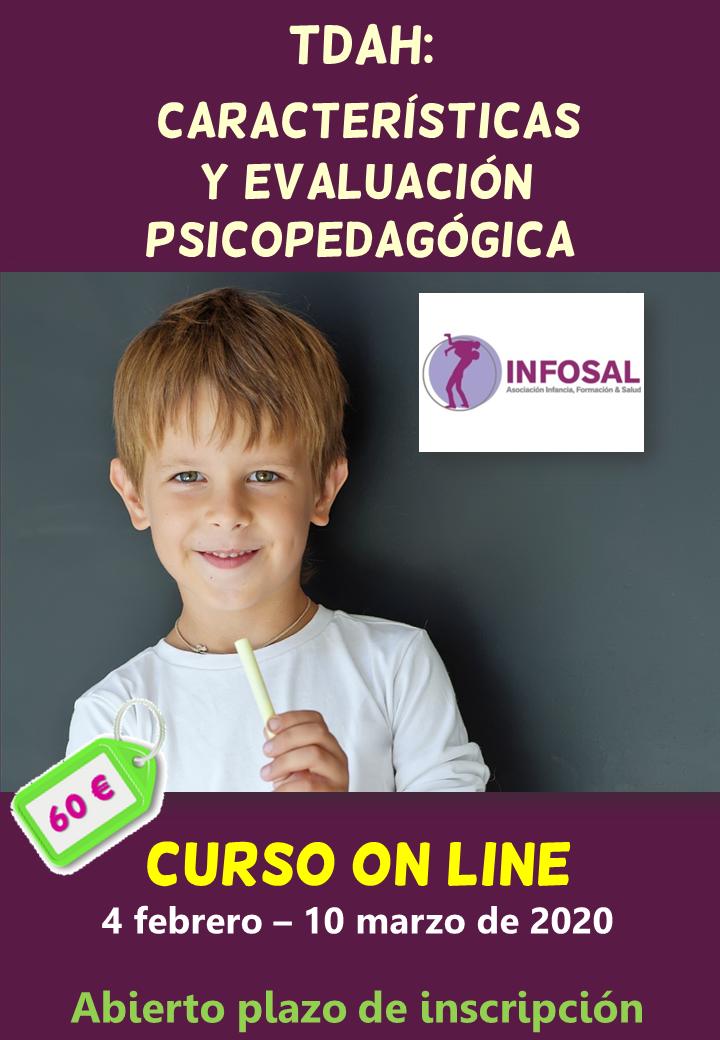 Curso on line características y evaluación psicopedagógica del TDAH