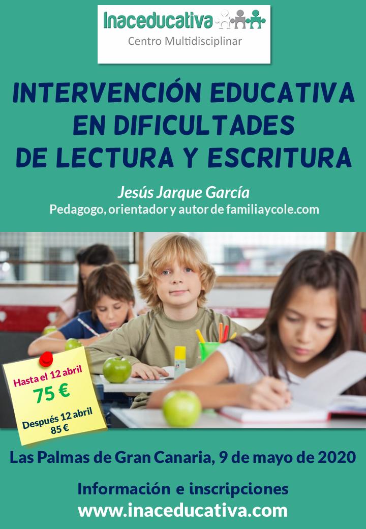 Curso en Las Palmas de Gran Canaria sobre dificultades de lectura y escritura