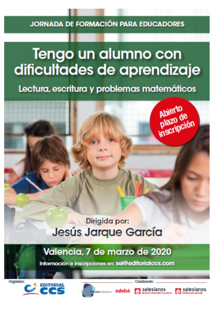 Curso en Valencia, Tengo un alumno con Dificultades de Aprendizaje, lectura, escritura y problemas matemáticos