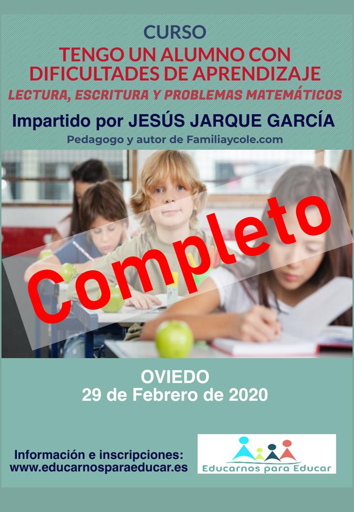 Curso en Asturias, Tengo un alumno con Dificultades de Aprendizaje, lectura, escritura y problemas matemáticos
