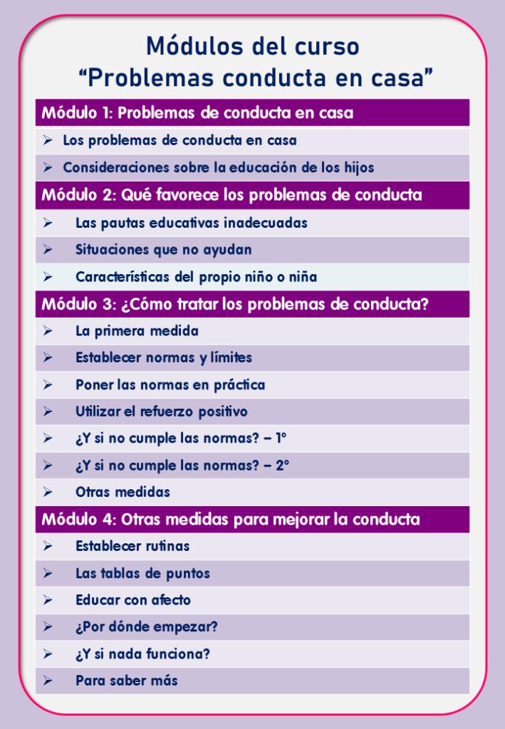 Curso on line problemas de conducta en la infancia, de Jesús Jarque.