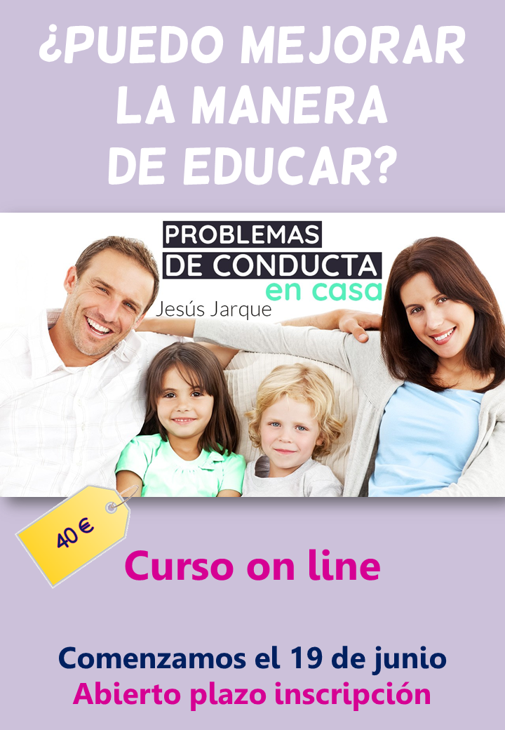 Curso on line, problemas de conducta en casa