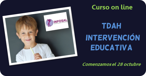 Curso on line sobre intervención educativa en el TDAH