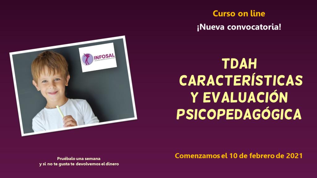 TDAH características y evaluación psicopedagógica, curso on line de Jesús Jarque.