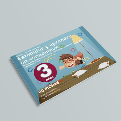 Cuaderno de Estimular y Aprender en Vacaciones, 3 años, de Jesús Jarque y Editorial Gesfomedia Educación.