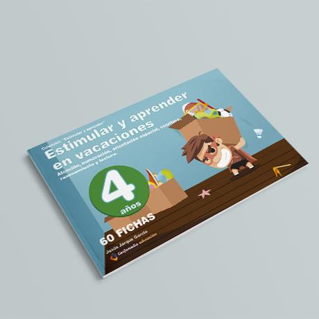 Cuaderno de Estimular y Aprender en Vacaciones, 4 años, de Jesús Jarque y Editorial Gesfomedia Educación.