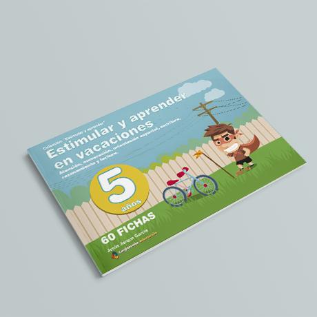 Cuaderno de Estimular y Aprender en Vacaciones, 5 años, de Jesús Jarque y Editorial Gesfomedia Educación.