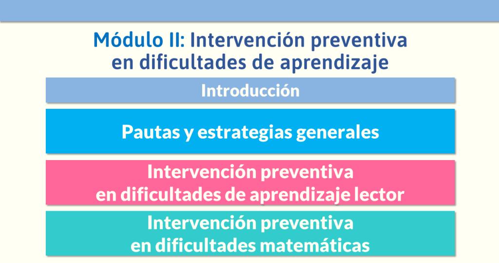 Contenidos del módulo que impartirá Jesús Jarque en el Diplomado Internacional Dificultades de Aprendizaje