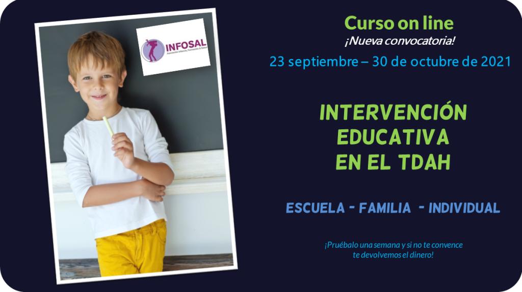 Curso on line de Jesús Jarque, intervención educativa en el TDAH