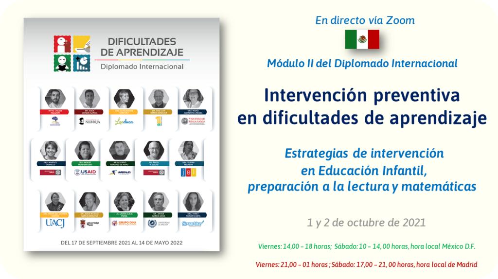 Intervención Preventiva en Dificultades de Aprendizaje: Intervención de Jesús Jarque en el Diplomado Internacional Dificultades de Aprendizaje, organizado por Umbrales Lectoescritura.
